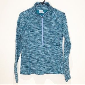 Columbia 1/2 Zip Pullover. Teal.